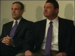 DC Kevin Steele (left) and Ed Orgeron are possibly the best combination of defensive coaches in college football.